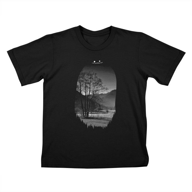 Monster Hill Kids T-Shirt by Niel Quisaba's Artist Shop