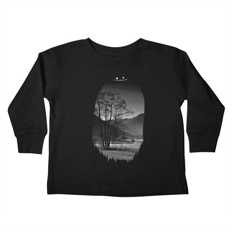 Monster Hill Kids Toddler Longsleeve T-Shirt by Niel Quisaba's Artist Shop