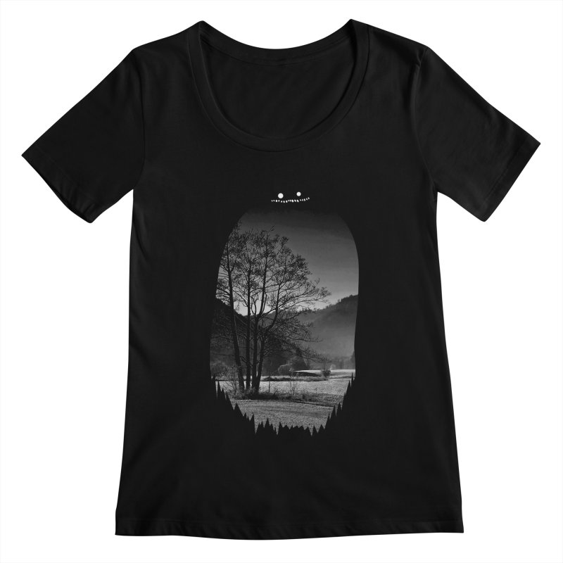 Monster Hill Women's Scoopneck by Niel Quisaba's Artist Shop
