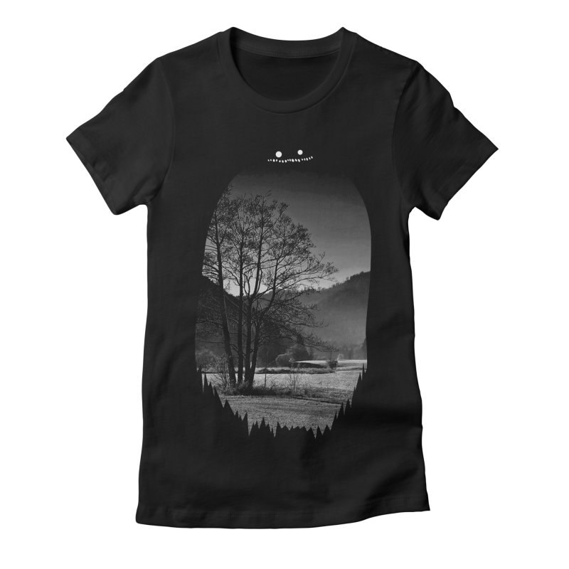 Monster Hill Women's Fitted T-Shirt by Niel Quisaba's Artist Shop