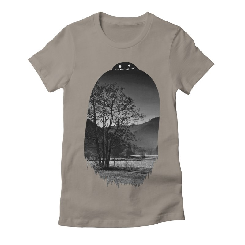 Monster Hill Women's Fitted T-Shirt by nielquisaba's Artist Shop