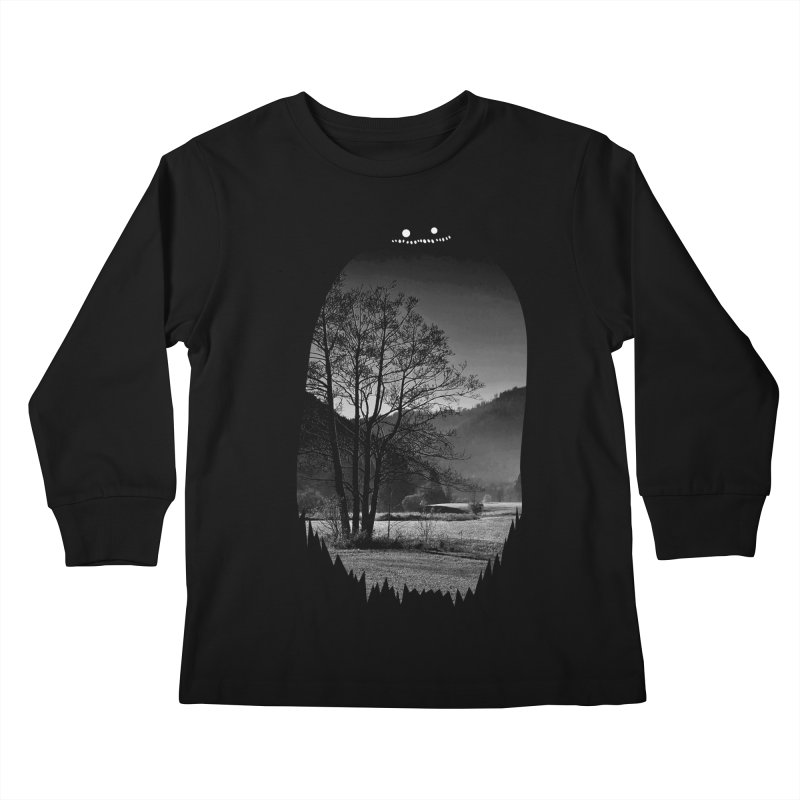 Monster Hill Kids Longsleeve T-Shirt by Niel Quisaba's Artist Shop