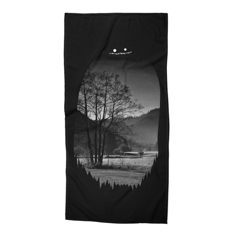 Monster Hill Accessories Beach Towel by Niel Quisaba's Artist Shop