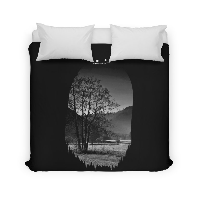 Monster Hill Home Duvet by Niel Quisaba's Artist Shop