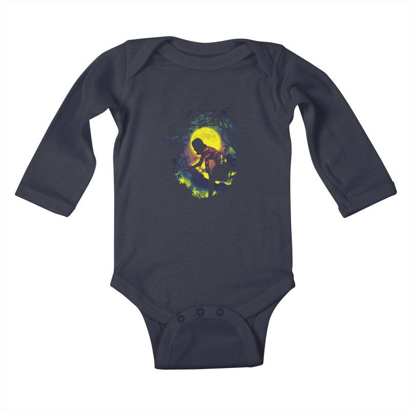 Feedmee Kids Baby Longsleeve Bodysuit by Niel Quisaba's Artist Shop