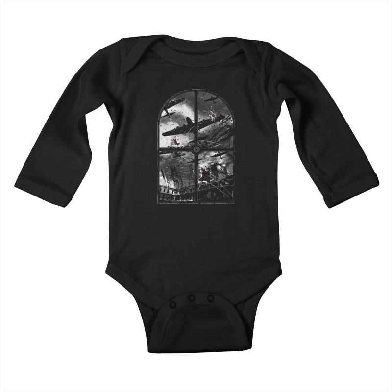 Sound the alarm Kids Baby Longsleeve Bodysuit by Niel Quisaba's Artist Shop