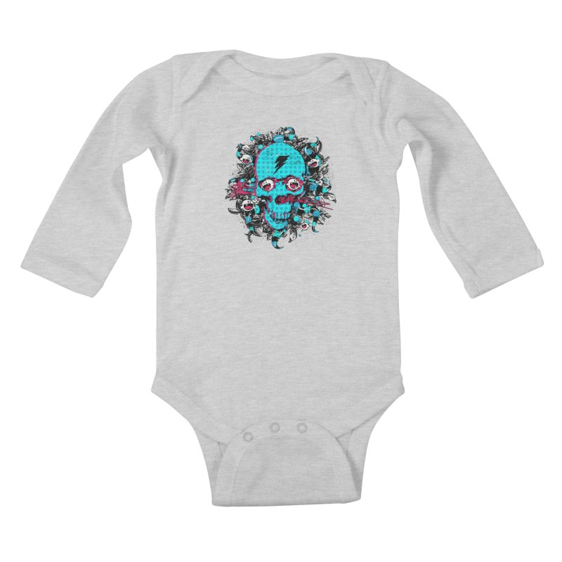 New Eyes Kids Baby Longsleeve Bodysuit by Niel Quisaba's Artist Shop
