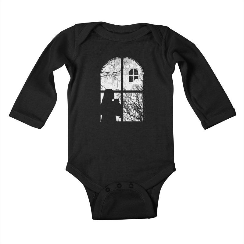 Hello Strange Neighbor Kids Baby Longsleeve Bodysuit by Niel Quisaba's Artist Shop
