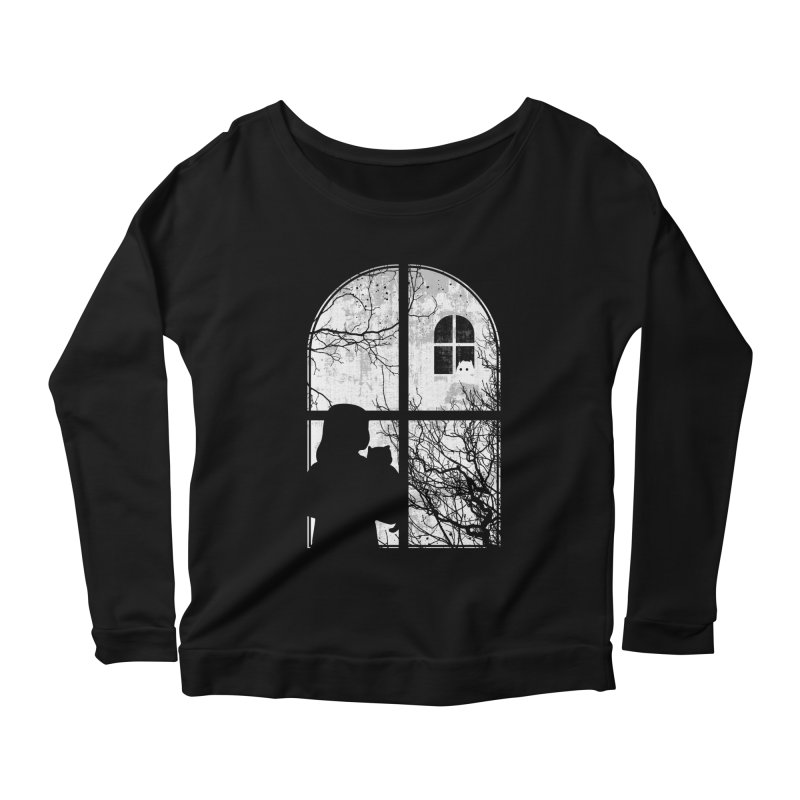 Hello Strange Neighbor Women's Longsleeve Scoopneck  by Niel Quisaba's Artist Shop