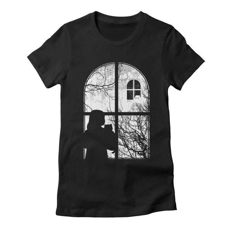 Hello Strange Neighbor Women's Fitted T-Shirt by Niel Quisaba's Artist Shop