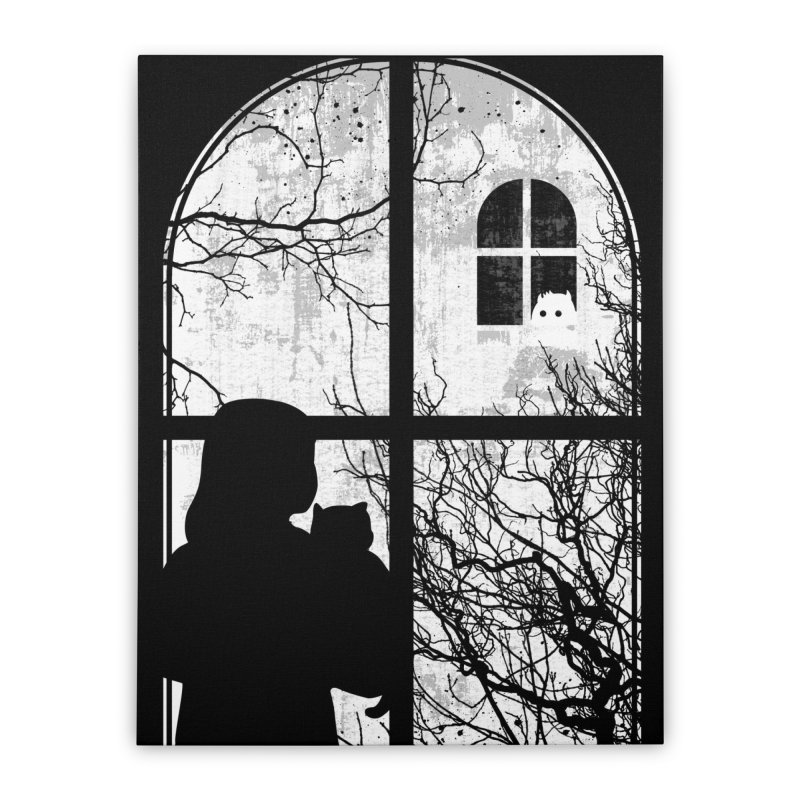 Hello Strange Neighbor Home Stretched Canvas by Niel Quisaba's Artist Shop