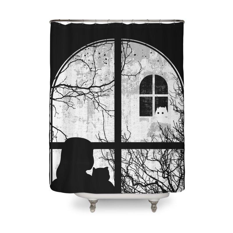 Hello Strange Neighbor Home Shower Curtain by Niel Quisaba's Artist Shop