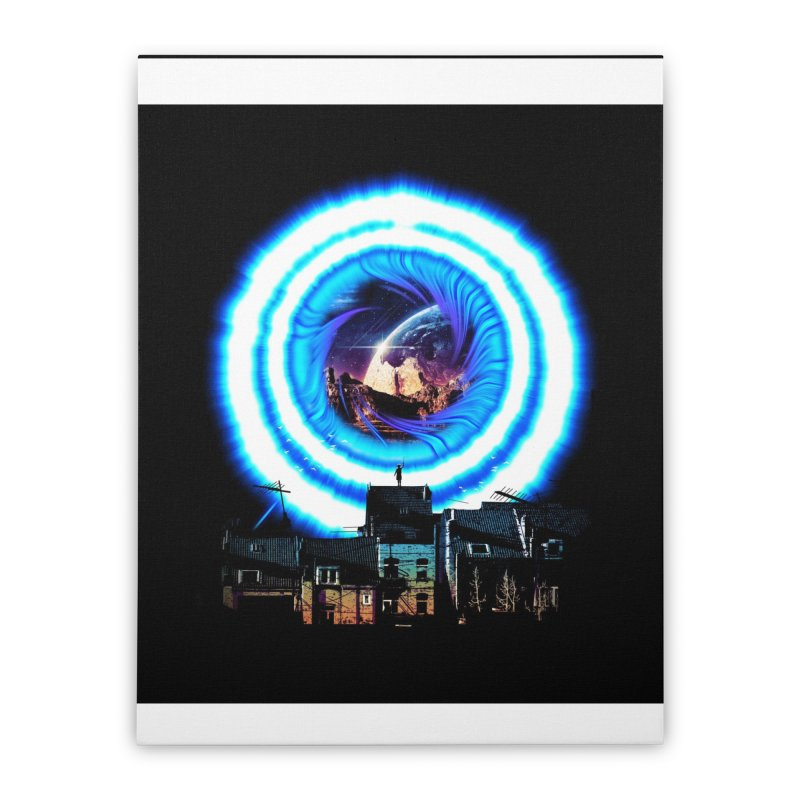 I wish wormholes were more mainstream Home Stretched Canvas by Niel Quisaba's Artist Shop
