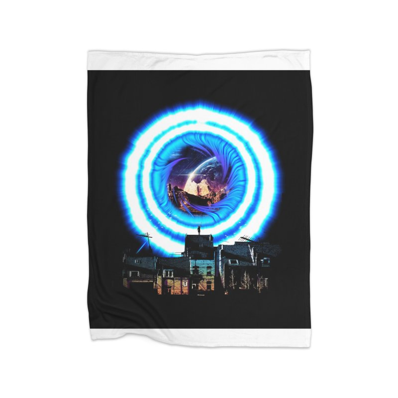 I wish wormholes were more mainstream Home Blanket by Niel Quisaba's Artist Shop