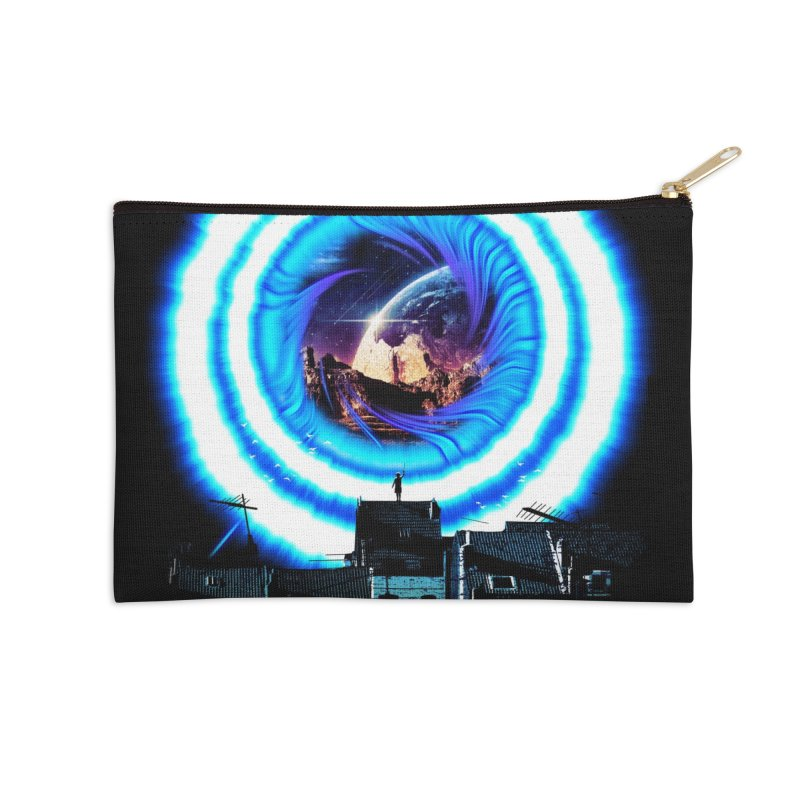 I wish wormholes were more mainstream Accessories Zip Pouch by Niel Quisaba's Artist Shop