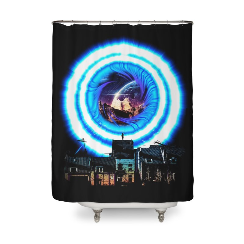 I wish wormholes were more mainstream Home Shower Curtain by Niel Quisaba's Artist Shop