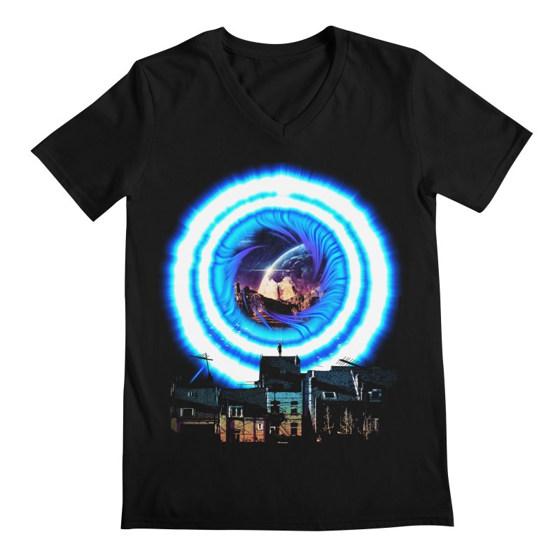 I wish wormholes were more mainstream Men's V-Neck by Niel Quisaba's Artist Shop