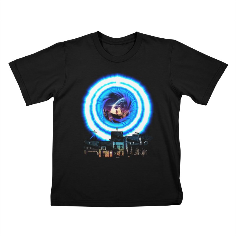 I wish wormholes were more mainstream Kids T-Shirt by Niel Quisaba's Artist Shop