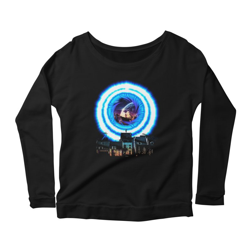 I wish wormholes were more mainstream Women's Longsleeve Scoopneck  by Niel Quisaba's Artist Shop