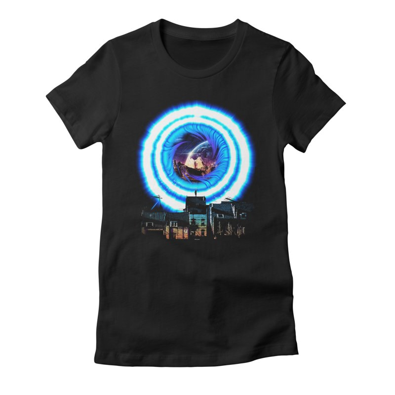 I wish wormholes were more mainstream Women's Fitted T-Shirt by Niel Quisaba's Artist Shop
