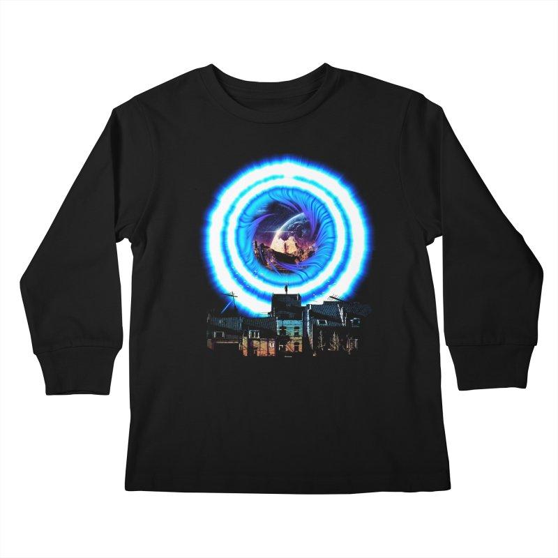 I wish wormholes were more mainstream Kids Longsleeve T-Shirt by Niel Quisaba's Artist Shop