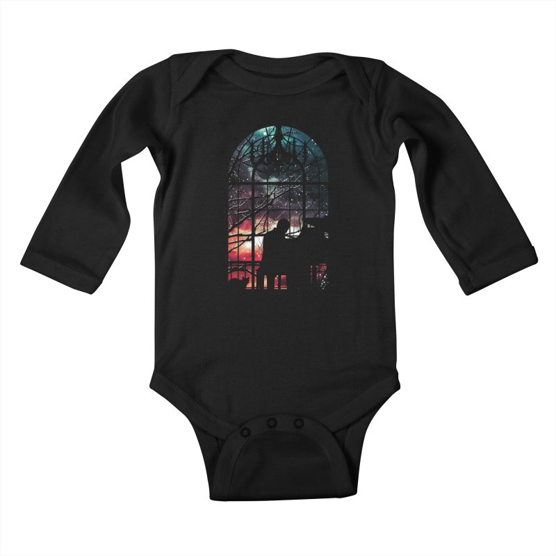 Midnight Sonata Kids Baby Longsleeve Bodysuit by Niel Quisaba's Artist Shop