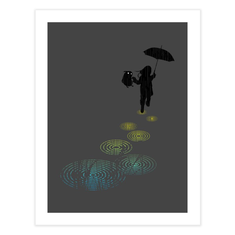 Dancing in the Rain Home Fine Art Print by Niel Quisaba's Artist Shop