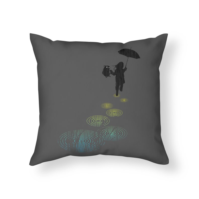 Dancing in the Rain Home Throw Pillow by Niel Quisaba's Artist Shop