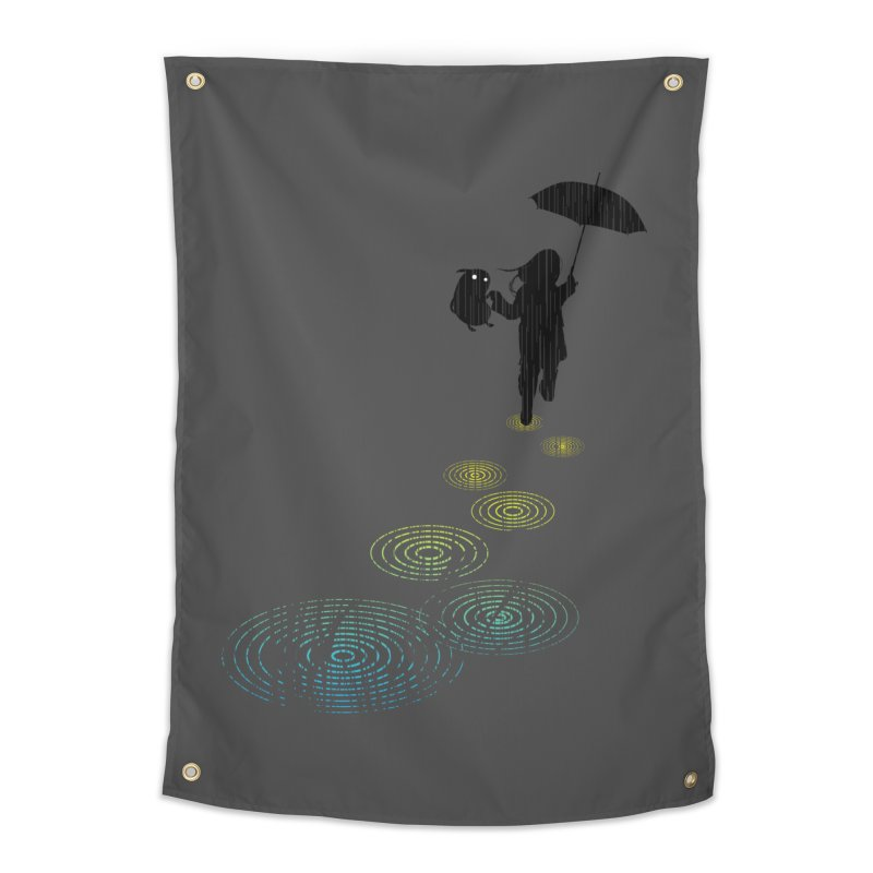 Dancing in the Rain Home Tapestry by Niel Quisaba's Artist Shop