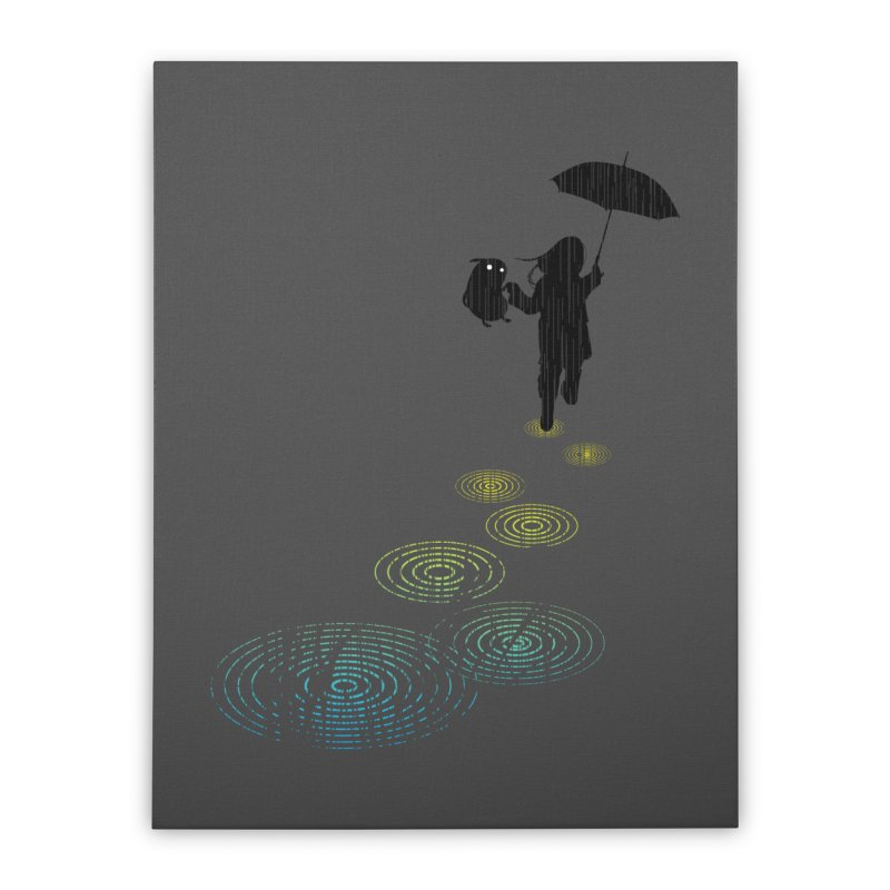 Dancing in the Rain Home Stretched Canvas by Niel Quisaba's Artist Shop