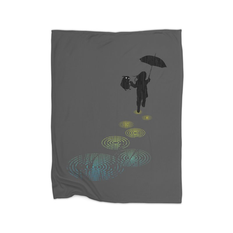 Dancing in the Rain Home Blanket by Niel Quisaba's Artist Shop
