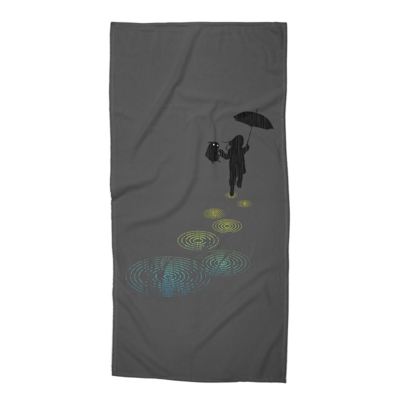 Dancing in the Rain Accessories Beach Towel by Niel Quisaba's Artist Shop