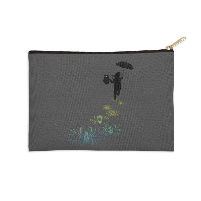Dancing in the Rain Accessories Zip Pouch by Niel Quisaba's Artist Shop