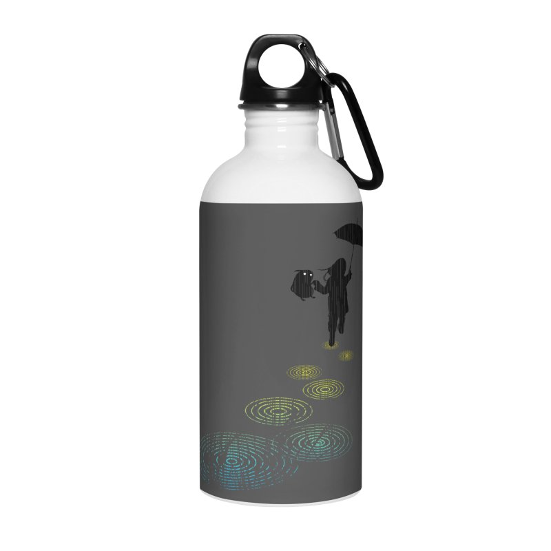 Dancing in the Rain Accessories Water Bottle by Niel Quisaba's Artist Shop