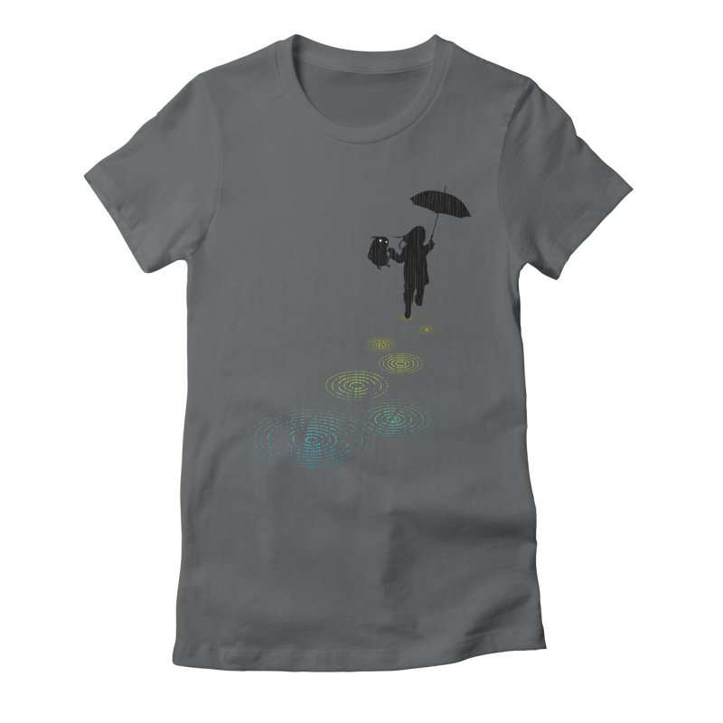Dancing in the Rain Women's Fitted T-Shirt by Niel Quisaba's Artist Shop