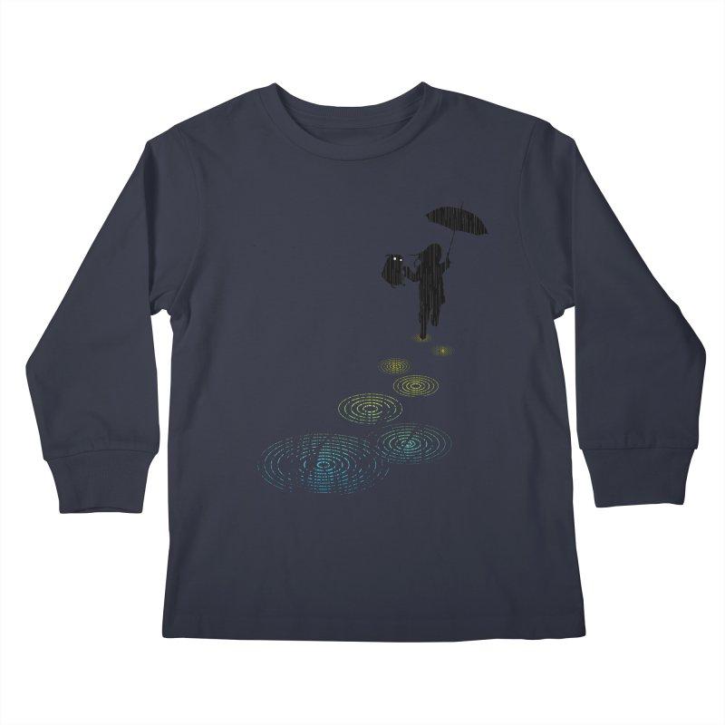 Dancing in the Rain Kids Longsleeve T-Shirt by Niel Quisaba's Artist Shop