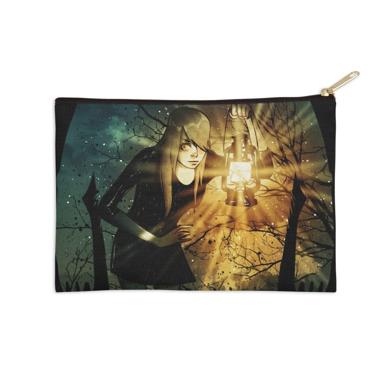 Don't Look Back Accessories Zip Pouch by Niel Quisaba's Artist Shop