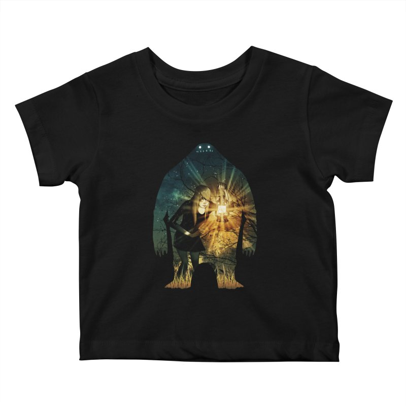 Don't Look Back Kids Baby T-Shirt by Niel Quisaba's Artist Shop