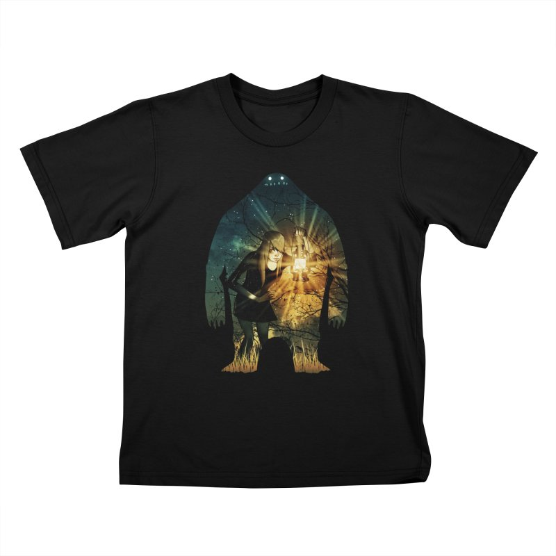 Don't Look Back Kids T-Shirt by Niel Quisaba's Artist Shop
