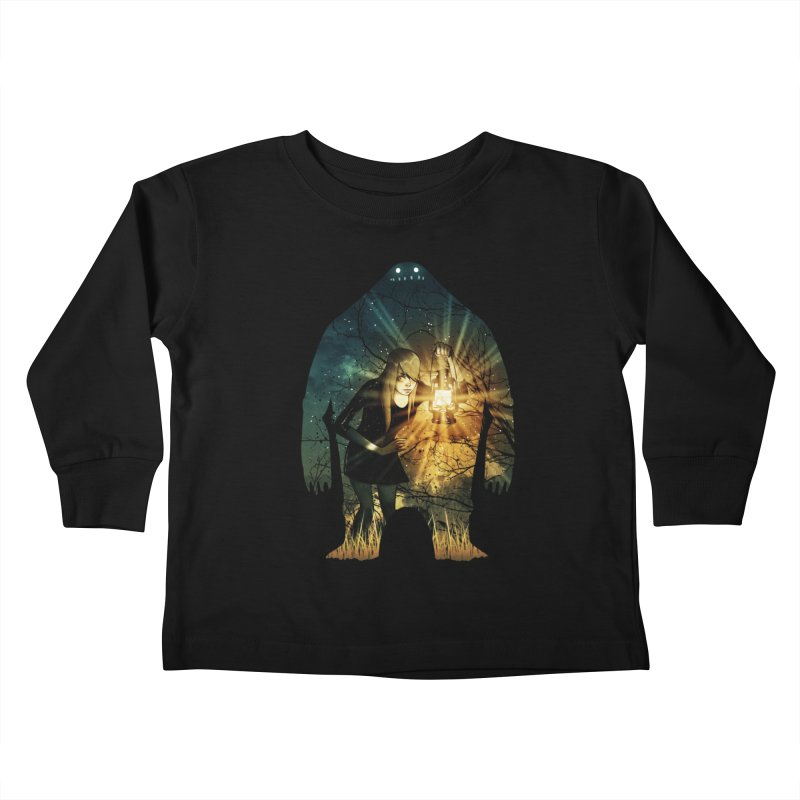 Don't Look Back Kids Toddler Longsleeve T-Shirt by Niel Quisaba's Artist Shop