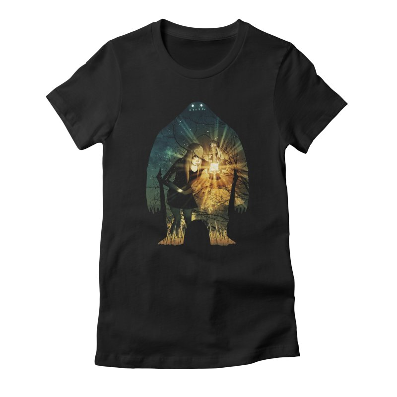 Don't Look Back Women's Fitted T-Shirt by Niel Quisaba's Artist Shop