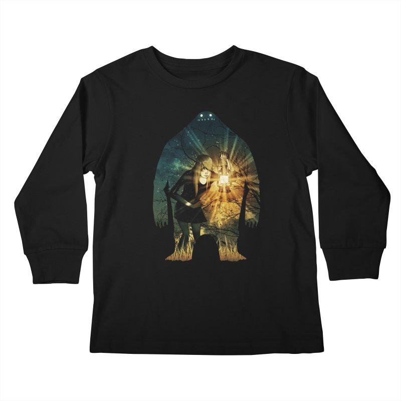 Don't Look Back Kids Longsleeve T-Shirt by Niel Quisaba's Artist Shop