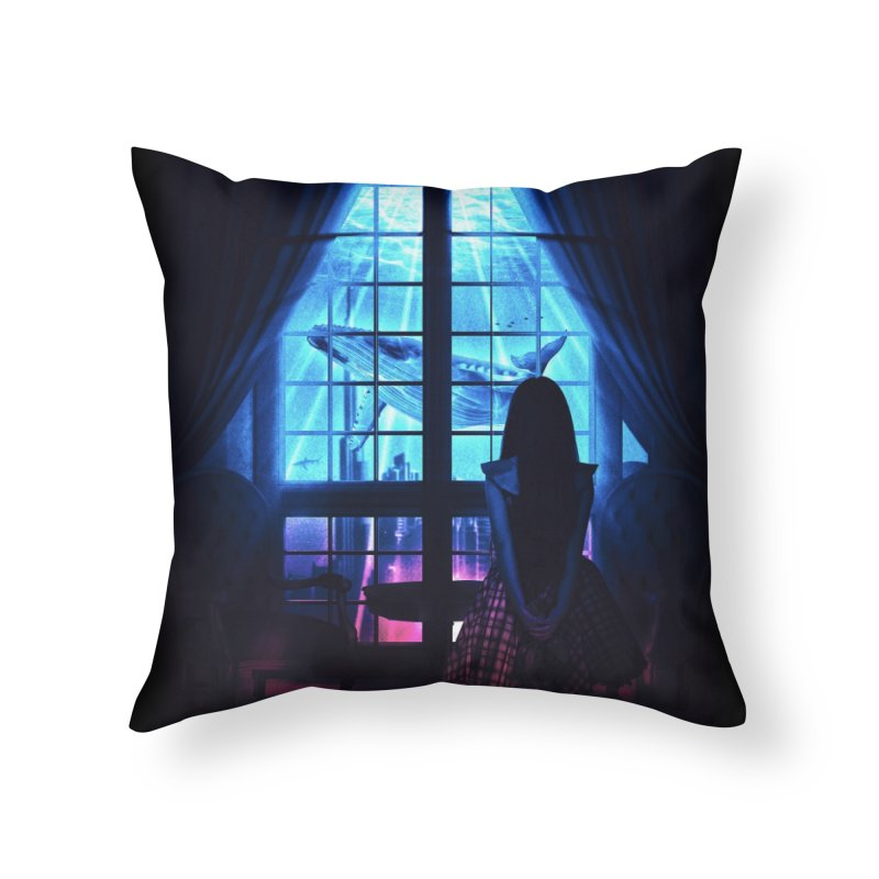 Whale Dream Home Throw Pillow by Niel Quisaba's Artist Shop