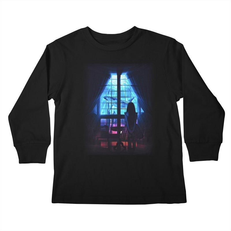 Whale Dream Kids Longsleeve T-Shirt by Niel Quisaba's Artist Shop