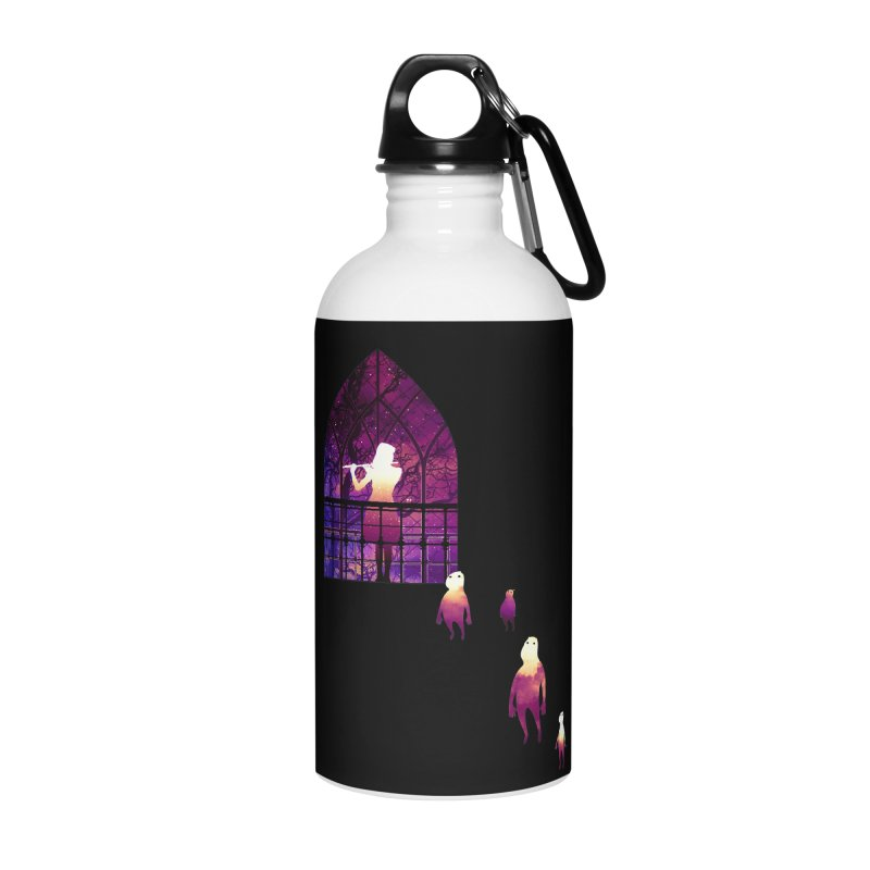 The Strange Flute Accessories Water Bottle by Niel Quisaba's Artist Shop