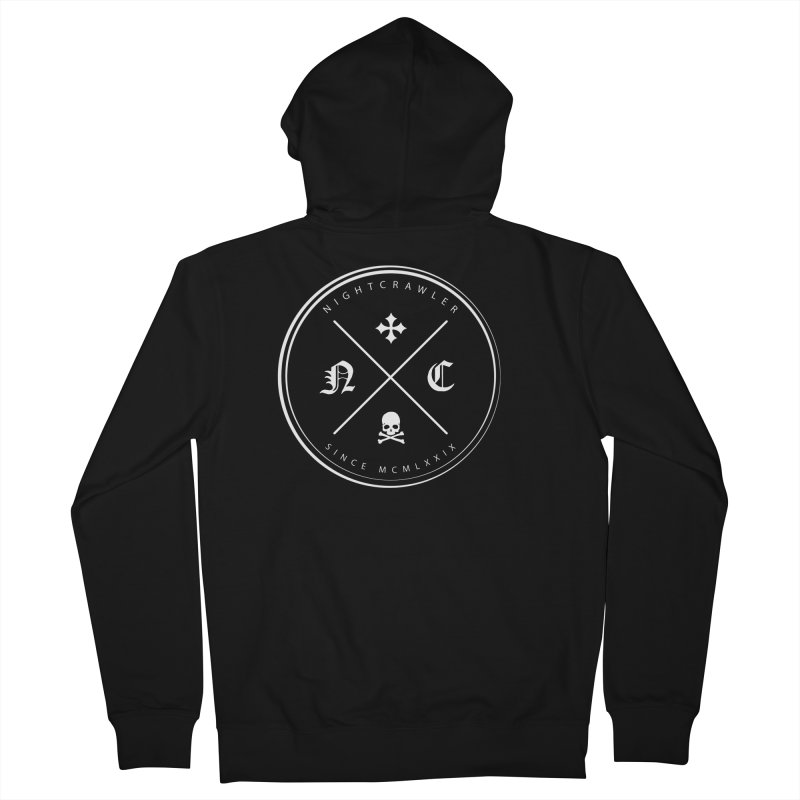 Circle Logo Men's Zip-Up Hoody by nightcrawlershop's Artist Shop