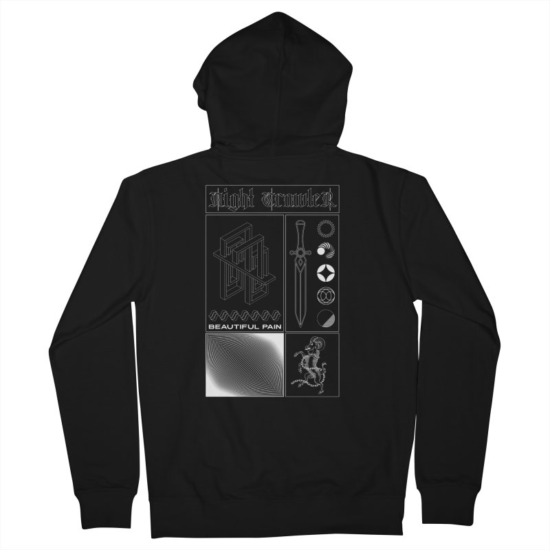 Beautiful Pain Men's Zip-Up Hoody by nightcrawlershop's Artist Shop
