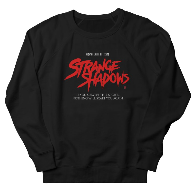 Strange Shadows  in Men's French Terry Sweatshirt Black by nightcrawlershop's Artist Shop