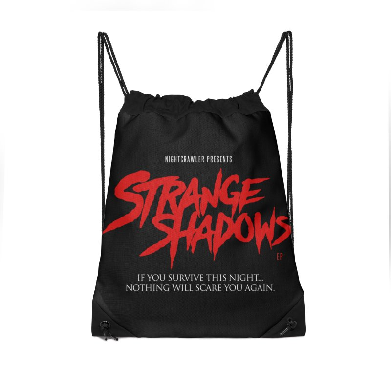Strange Shadows  Accessories Drawstring Bag Bag by nightcrawlershop's Artist Shop
