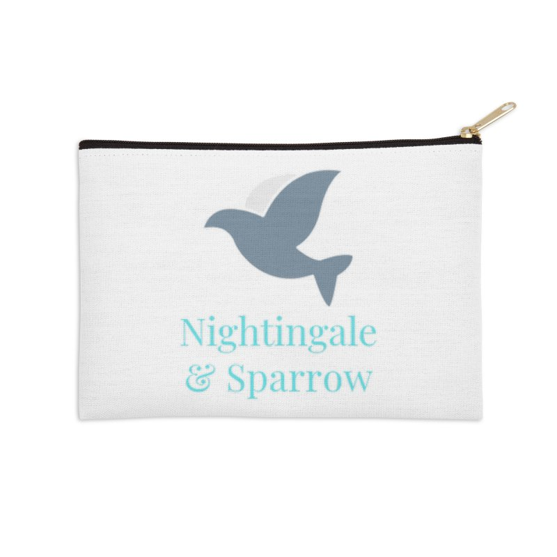 N&S Logo Accessories Zip Pouch by Nightingale & Sparrow's Artist Shop